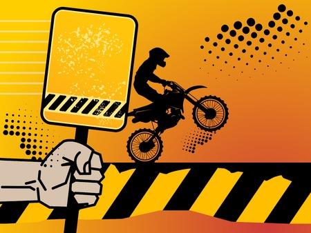 Motocross background Stock Vector - 14975933