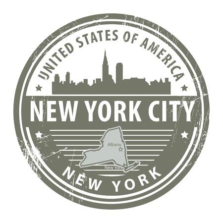 nowy: Grunge pieczątka z nazwą Nowy Jork, Nowy Jork Ilustracja