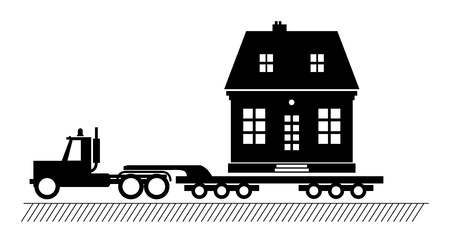 Truck delivers the house Stock Vector - 14975919