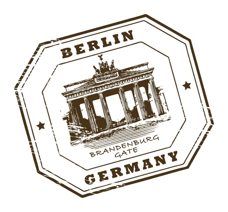 Grunge rubber stamp with words Berlin, Germany inside Vector