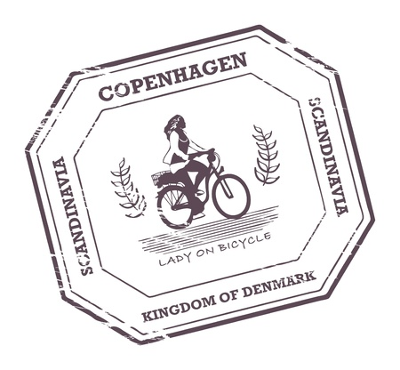 Grunge rubber stamp with word Copenhagen, Denmark inside Vector
