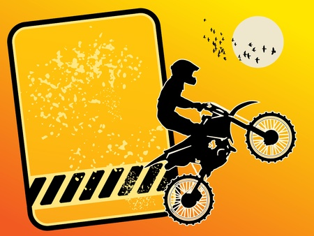 road bike: Motocross background Illustration