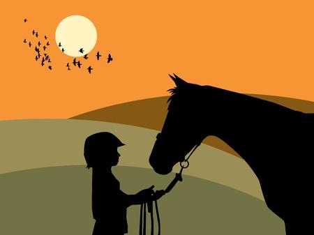 Chica y caballo