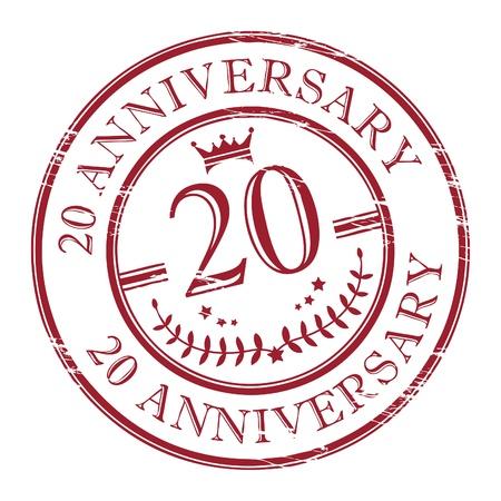 anniversary party: Timbro 20 � anniversario