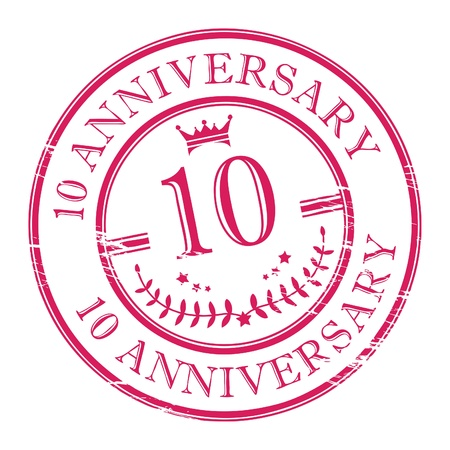 10 years: Stamp 10 anniversary