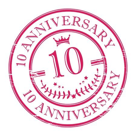 10 years anniversary: Stamp 10 anniversary