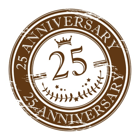 20 25 years: Stamp 25 anniversary