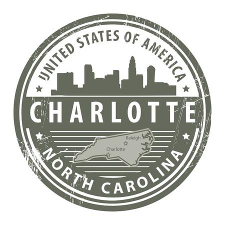 carolina: Grunge rubber stamp with name of North Carolina, Dallas
