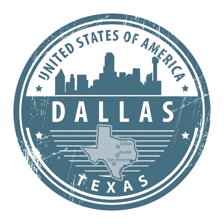 Grunge rubber stamp with name of Texas, Dallas Stock Vector - 15068029