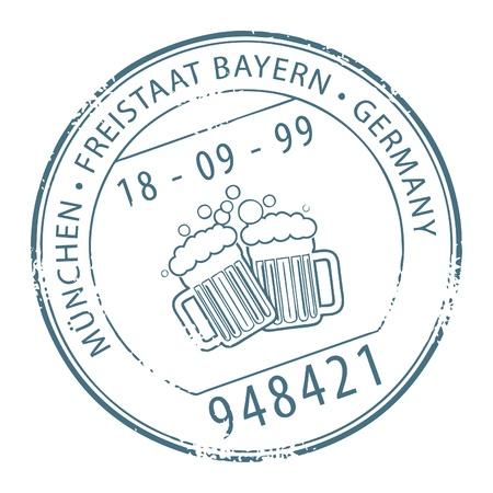 postmark: Grunge Stempel mit dem Namen M�nchen, Deutschland innerhalb der Stempel geschrieben
