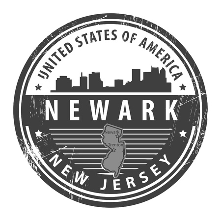 Grunge rubber stamp with name of New Jersey, Newark Vector