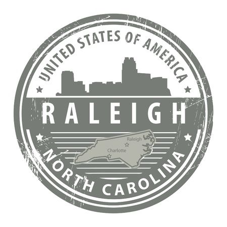 Grunge rubber stamp with name of North Carolina, Dallas Stock Vector - 15068020