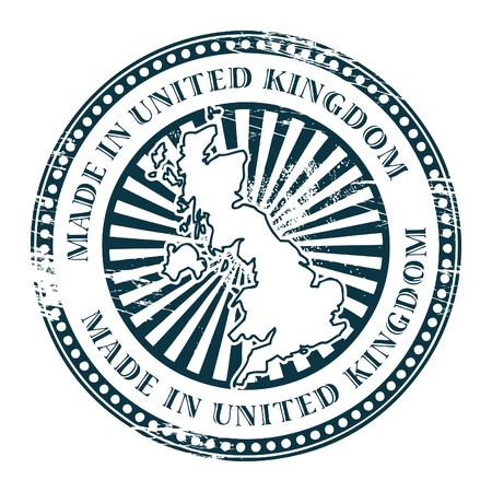 england map: Grunge rubber stamp made in United Kingdom