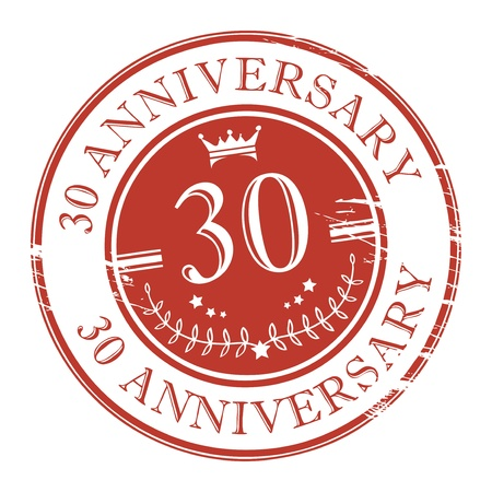 anniversary card: Stamp 30 anniversary Illustration