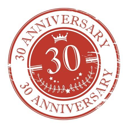 anniversary party: Timbro 30 � anniversario