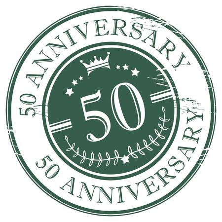 aniversario: Sello 50 aniversario