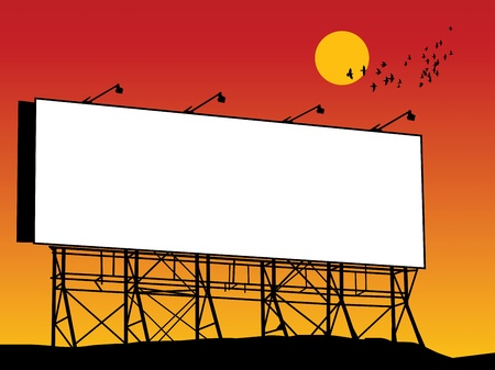 Outdoor billboard Vektoros illusztráció