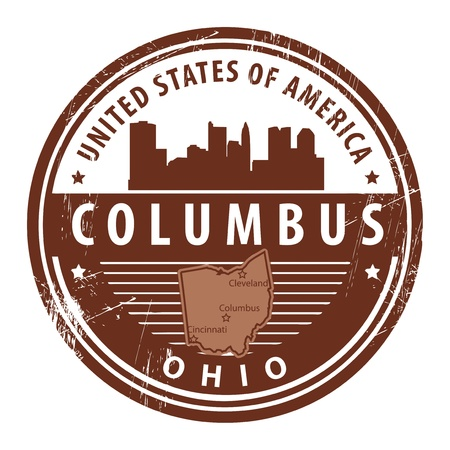 columbus: Grunge rubber stamp with name of Ohio, Columbus