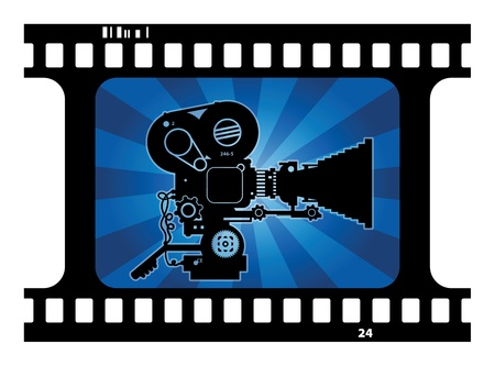 rarity: Abstract background with movie camera