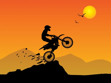 motorsport: Motocross background Illustration