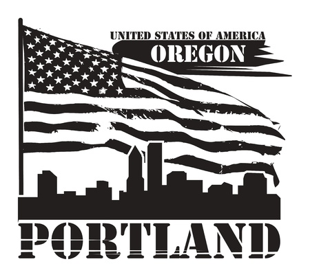 Grunge label with name of Oregon, Portland Stock Vector - 15271270