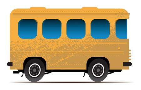tourist bus: Yellow bus