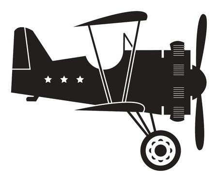Retro biplane Stock Vector - 15271902