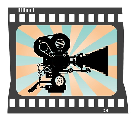 Abstract background with movie camera Stock Vector - 15271904