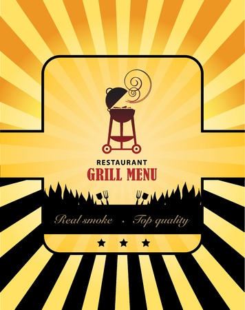 bbq background: Grill Menu
