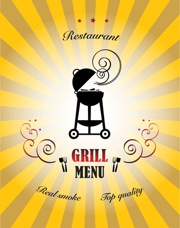 Grill Menu Stock Vector - 15271921