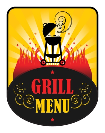 Grill Menu Stock Vector - 15271939