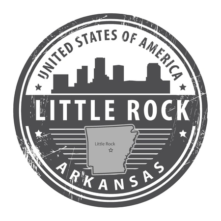 Grunge rubber stamp with name of Arkansas, Little Rock Vector