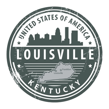 louisville: Grunge rubber stamp with name of Kentucky, Louisville Illustration
