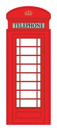 red telephone box: Phone booth