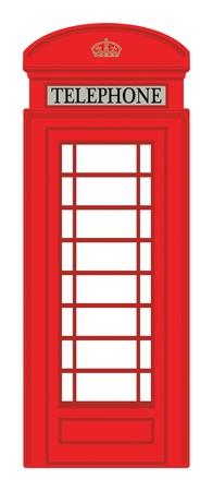 vintage telefoon: Telefooncel Stock Illustratie