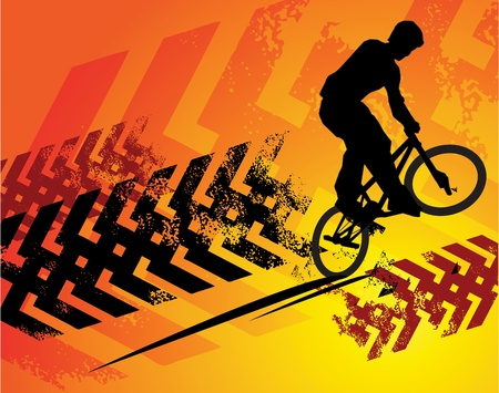 Cyclist abstract background Vector