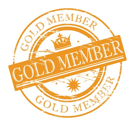 Stamp Gold Member Vector