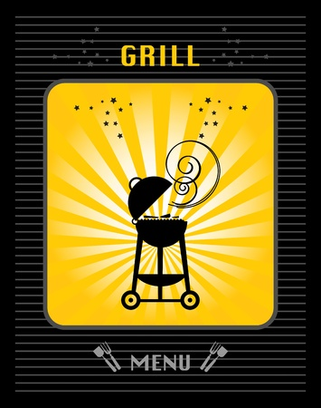 Grill Menu Stock Vector - 15228715