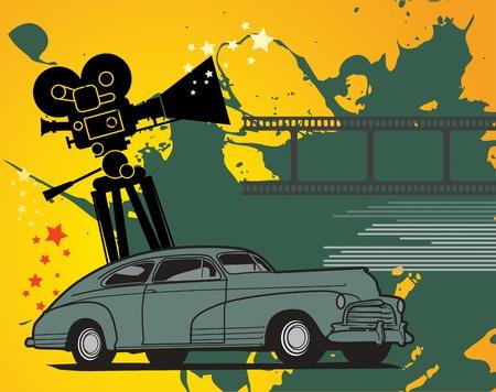 Fondo abstracto de cine