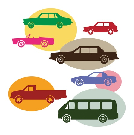 Set of different car symbols Vector