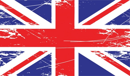 British Union Jack flag Vector