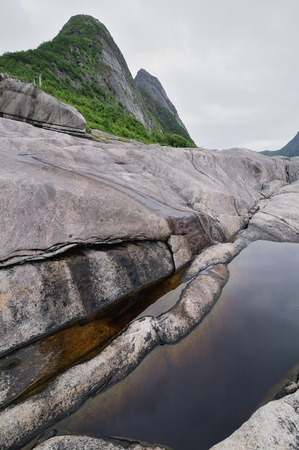 Beautiful landscape of north Norway photo