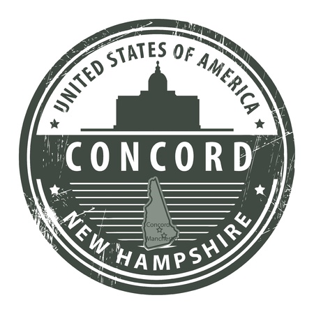 Grunge rubber stamp with name of New Hampshire, Concord Stock Vector - 15251155