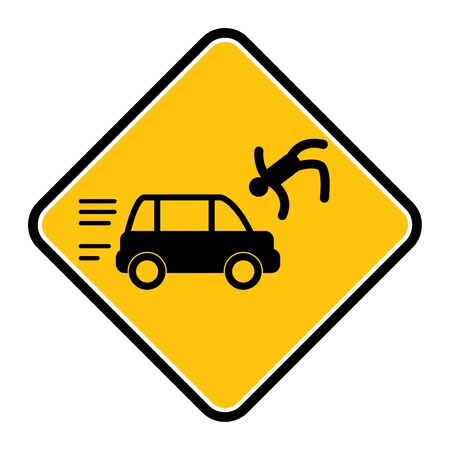 Danger accident sign Vector