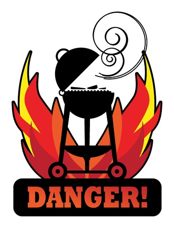 Grill Danger sign Stock Vector - 15314099
