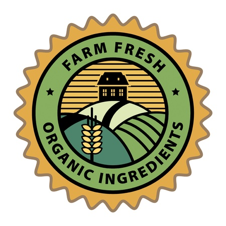 Abstract farm or agriculture label Vector