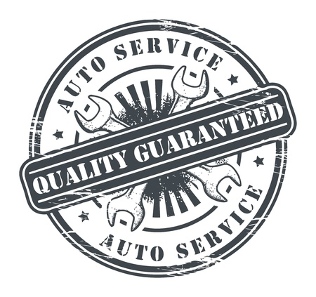 techniek: Car Service grunge stempel Stock Illustratie