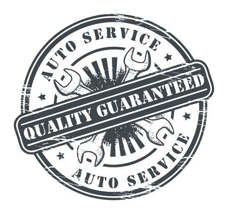 reparation automobile: Timbre grunge voiture de service
