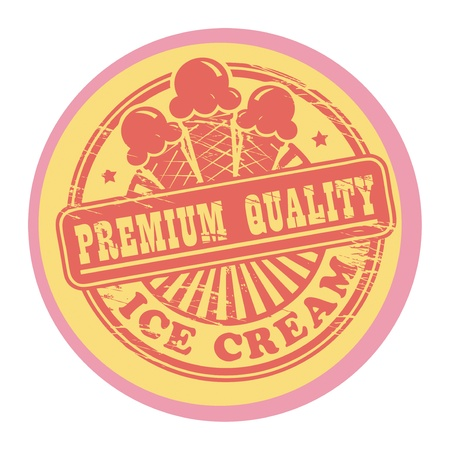 sundae: Vintage retro ice cream label
