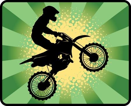 motocross riders: Motocross background Illustration